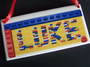 Lego Blocks Personalized Name Plaque