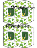 Lucky St Patrick's Day Monogram D