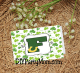 Lucky St Patrick's Day Monogram F