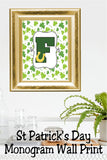 Whether you are looking to decorate your home or party, these Monogram party favors and decorations are the perfect addition.  You will find the Monogram design in many different styles...get one or all of them for your St Patrick's day.
