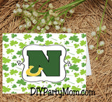 Lucky St Patrick's Day Monogram N