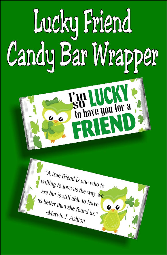 Lucky Friend Candy Bar Wrapper