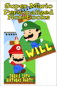 Bring all your friends to your Super Mario party with these fun, personalized mini notebooks  Notebooks make great party favors or treats at your party and are the perfect way to say thank you for coming  #supermarioparty #supermariopartyfavors #personalizedparty