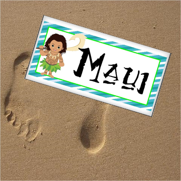 Maui Personalized Name Plaque