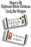 """My Dearest Friend, if you don't mind I'd like to join you by your side. For it is plain as anyone can see, we're simply meant to be.""  This candy bar wrapper is a beautiful card for anyone who loves Nightmare Before Christmas. It's the perfect gift and card for Valentine's day, a loved one, or as a reminder you are meant to be. #nightmarebeforechristmas #jackskellingtoncard #candybarwrapperprintable"