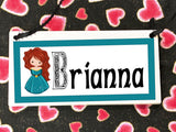 Merida Personalized Name Plaque