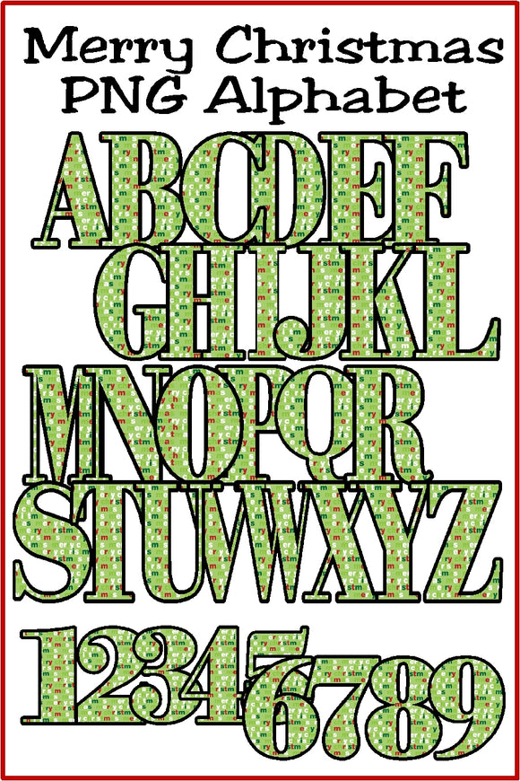 Merry Christmas Alphabet