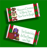 Merry Christmas Teacher Candy Bar Wrapper Printable