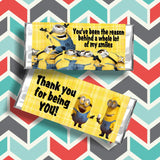 Minion Thank You Candy Bar Wrapper