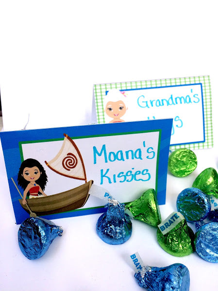 Moana Table Card Printables