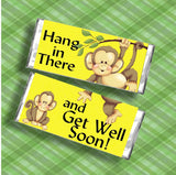 Monkey Get Well Soon Candy Bar Wrapper