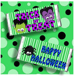 Monster Halloween Candy Bar Wrapper