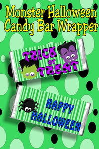 Wish someone a sweet Halloween with this printable candy bar wrapper that is perfect as both a Halloween card and a Halloween gift.