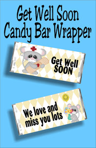 Get Well Soon...We love and Miss You Lots. Know someone who is sick? Send them a little chocolate love with this candy bar card.  It will bring a smile to their face to know you are thinking of them.