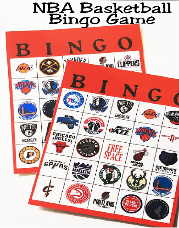 While you are waiting for the basketball game to start or if you are looking for a fun basketball party game, this NBA Basketball bingo is the perfect printable for your day. #baskeballparty #nbabasketball #partygame #bingo
