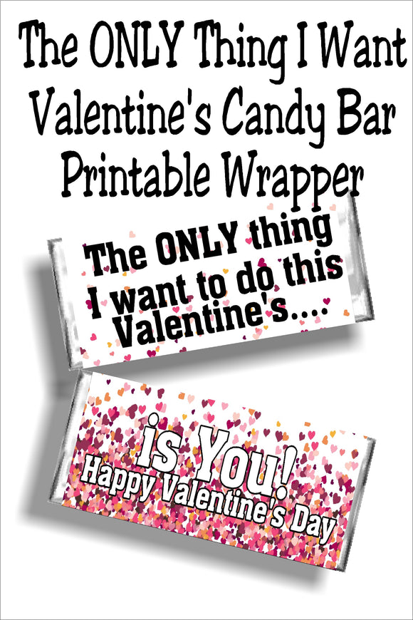 Who needs a boring old card for Valentine's day? Give something saying how you really feel with a dose of chocolate to back it up!