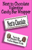 Whether you give this valentine card candy bar wrapper to your best friend or to your significant other, this candy bar will be the sweetest sentiment they receive all Valentines day!