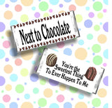 Next to Chocolate Valentine Candy Bar Wrapper Printable