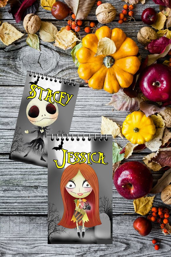 Bring Jack and Sally to your Halloween party with these personalized Nightmare before Christmas party favors.