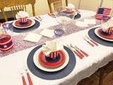 Patriotic Table Set Plastic Canvas Pattern
