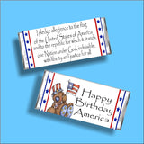 Pledge of Allegiance Patriotic Candy Bar Wrapper