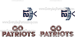 Patriot Football Customizable and Printable Candy Bar Wrapper