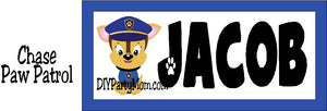 Bring Chase and his friends into your home with this fun Paw Patrol personalized name plaque perfect for your room decor or door plaque.  Each dog is included so you can choose your favorite Paw Patrol pal. #pawpatrol #pawpatrolroom #pawpatrolparty #personalizednameplaque
