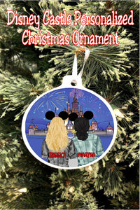 See yourself and a loved one at Disney with this personalized Christmas ornament straight from your favorite magical world.  You can personalize the hair, and the skin tone, the shirt, and whether you want a bow or not on your Mickey ears so you are featured front and center at Disney this Christmas.