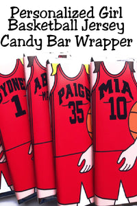 What a great gift to give the players on your team to cheer them on to victory this basketball season! Or use to celebrate your March Madness games with candy bars of your favorite team's players!