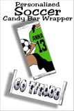 Personalized Soccer GIRL Candy Bar Wrapper