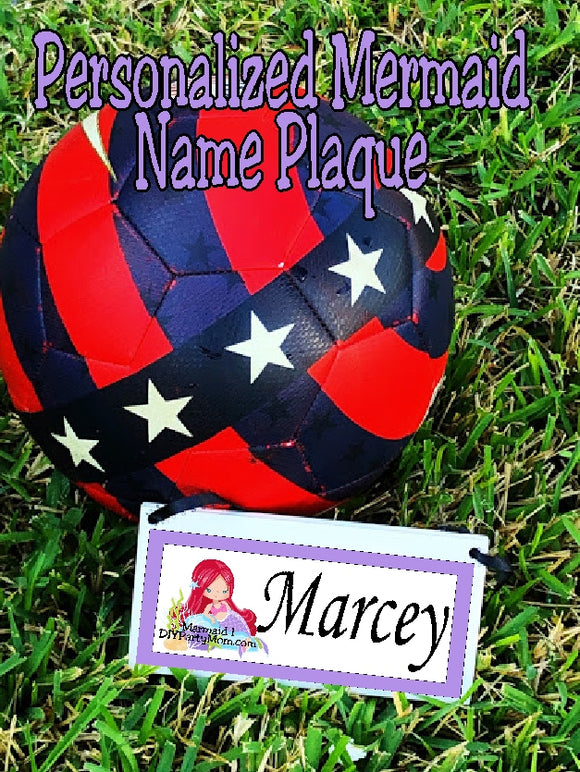 Mermaid Personalized Name Plaque