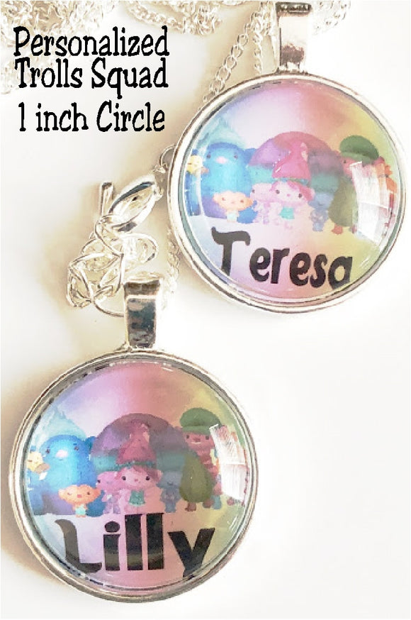 Make your own party favors with these Trolls Squad Goals Personalized 1 inch circles.  With each circle personalized, you can make Trolls bottle cap necklaces, keychains, bookmarks, and so much more perfect for each of your Trolls party guests.