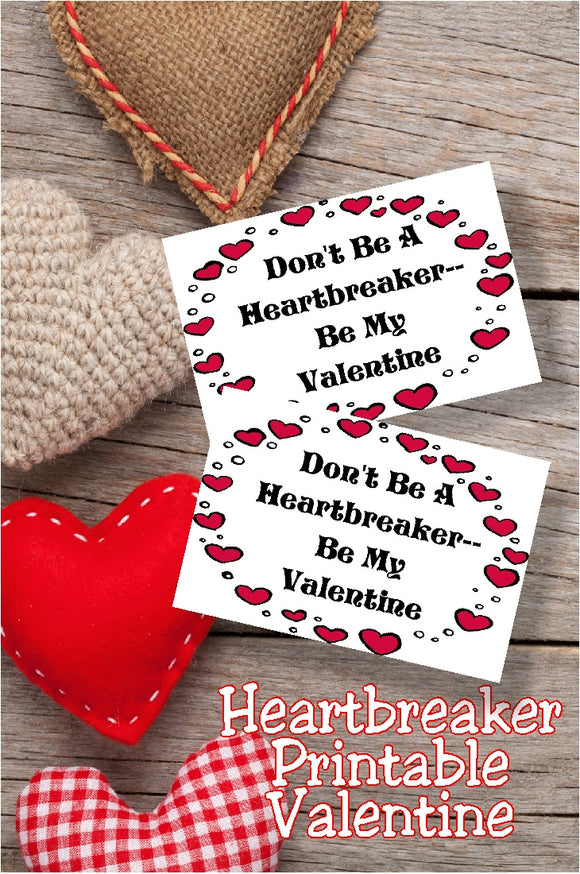 Add some sweet Heartbreaker candies to a bag and you have a fun and easy Valentine gift for all those on your list this year!