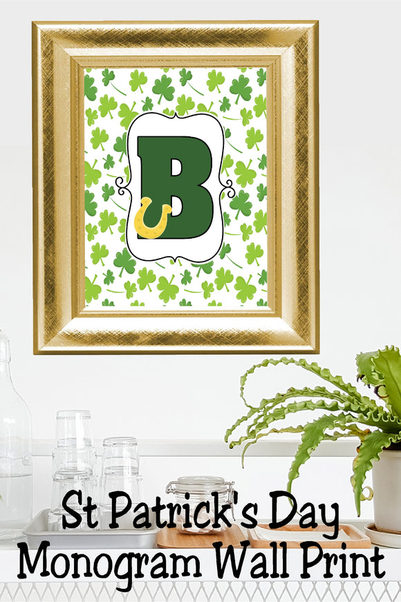 Lucky St Patrick's Day Monogram B