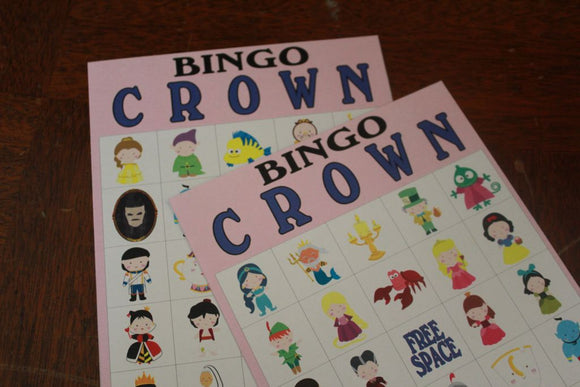 Disney Princess Printable Bingo Game