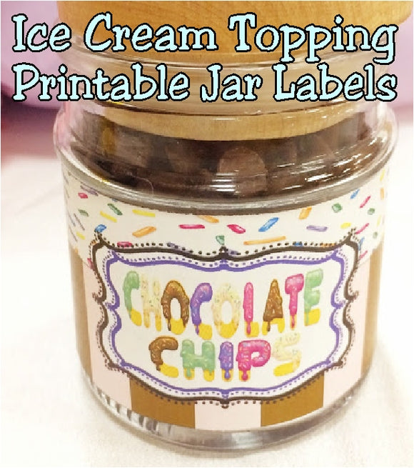 Easily take your ice cream party to the next level with these simple tricks. Your parties will be ahhh-mazing and you'll just smile as you think how easy it is with these printable jar labels for your ice cream toppings