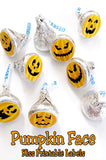 Have some fun at your Halloween party with these super cute pumpkin face Hershey kiss labels. These kiss labels are a perfect addition to your Halloween dessert table and will bring a smile to all your guests' faces.