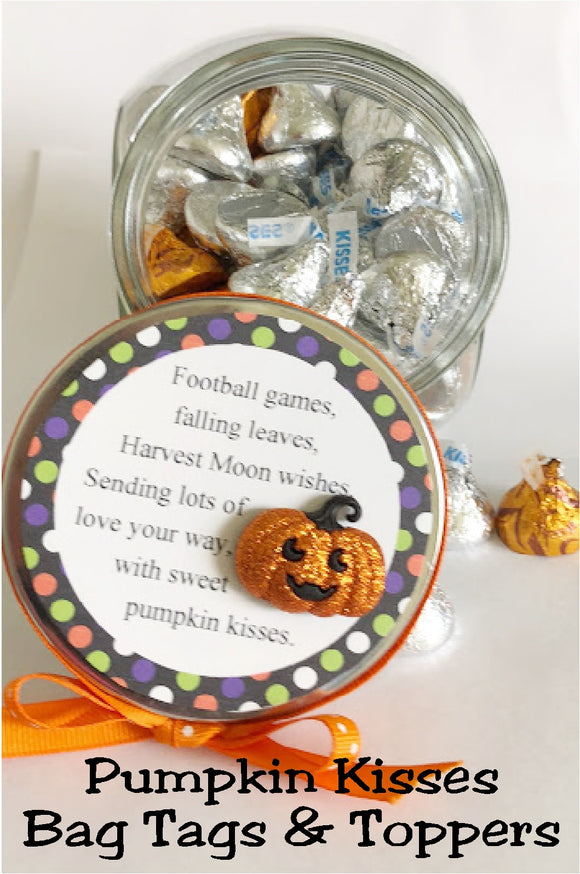Send your loved ones sweet pumpkin kisses with these printable bag toppers perfect for your kids, friends, neighbors, and ministering sisters.