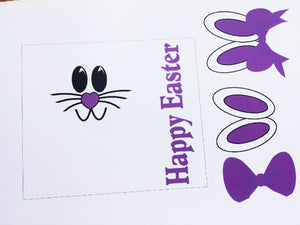 Purple Easter Bunny Candy Bar Wrapper