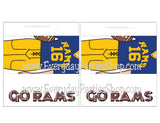 Rams Football Customizable and Printable Candy Bar Wrapper