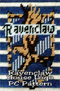 Show your Ravenclaw house pride with this Harry Potter plastic canvas pattern. This Harry Potter craft is perfect for a birthday party or dinner party, or the Hogwarts logo can be used as a banner, place mat, tissue box, or more.