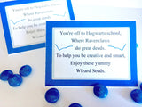 Show your house pride with these Ravenclaw house Wizard Seeds. These printablebag toppers are perfect for a Harry Potter party and are a unique and fun party favor.