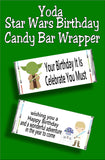 Give your favorite Star Wars fan a fun birthday card and birthday treat with this Star Wars candy bar wrapper.