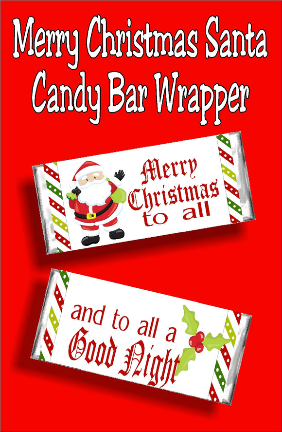 Give everyone a sweet Christmas card this year with a fun printable candy bar wrapper perfect for Christmas cards, Christmas gifts, or as a yummy stocking stuffer.