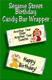 Sesame Street Birthday Candy Bar Wrapper Printable