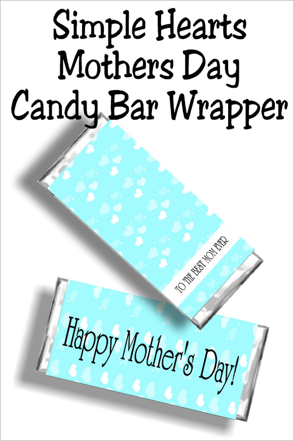 When you can't be with mom, send her your love with a chocolate candy bar and a Mothers'day card all in one.  This candy bar card printable is the perfect gift for any mom on your friends and family list. #mothersdaycard #mothersdaycandybarwrapper