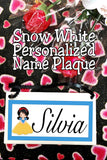 Snow White Personalized Name Plaque