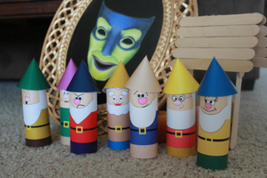 Invite the seven dwarfs to your Snow White party with these easy dwarf printable and directions.