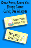 Some bunny loves you...Hoppy Easter! Send someone special a fun chocolate candy bar card.  This treat is more than just an Easter card, it's also a sweet candy gift! Everyone will love getting cards from you when you send these sweet Easter candy bars.