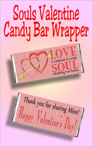 Love is composed of a single soul inhabiting two bodies...Thank you for sharing mine! Happy Valentine's Day!  Printable candy bar wrapper perfect for a Valentine's day card alternative.